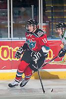 KELOWNA, CANADA - DECEMBER 6: Tomas Soustal #15 of Kelowna Rockets skates against the Prince Albert Raiders on December 6, 2014 at Prospera Place in Kelowna, British Columbia, Canada.  (Photo by Marissa Baecker/Shoot the Breeze)  *** Local Caption *** Tomas Soustal;