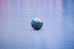 10.01.2020, Wiener Stadthalle, Wien, AUT, EHF Euro 2020, Nordmazedonien vs Ukraine, Gruppe B, im Bild Spielball der EM // official ball of the game during the EHF 2020 European Handball Championship, group B match between North Macedonia and Ukraine at the Wiener Stadthalle in Wien, Austria on 2020/01/10. EXPA Pictures © 2020, PhotoCredit: EXPA/ Florian Schroetter