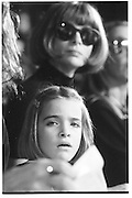 Anna Wintow and daughter, fashion show, New York 1994© Copyright Photograph by Dafydd Jones 66 Stockwell Park Rd. London SW9 0DA Tel 020 7733 0108 www.dafjones.com