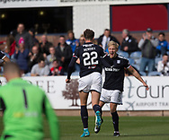 16th September 2017, Dens Park, Dundee, Scotland; Scottish Premier League football, Dundee versus St Johnstone; Dundee's A-Jay Leitch-Smith celebrates after scoring