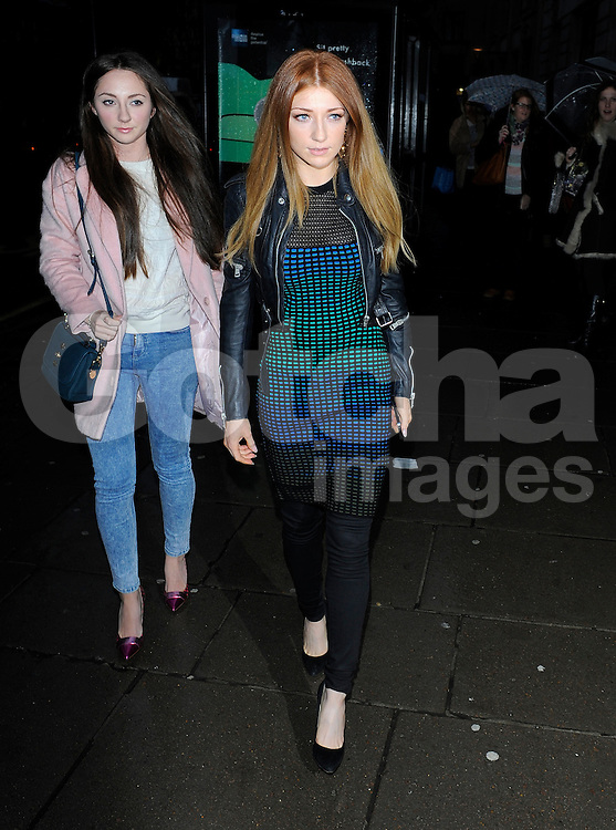Nicola Roberts attends the Mark Fast show at London Fashion Week AW14 at Aldwych House in London, UK. 14/02/2014<br />BYLINE MUST READ : GOTCHAIMAGES.COM<br /><br />Copyright by &copy; Gotcha Images Ltd. All rights reserved.<br />Usage of this image is conditional upon the acceptance <br />of Gotcha Images Ltd, terms and conditions available at<br />www.gotchaimages.com