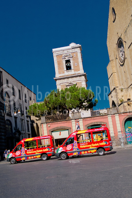 Alberto Carrera, Belltower, Church of Santa Chiara, Sant Chiara Cloister,Piazza del Gesú Nuovo, Naples, Campania, Italy, Europe
