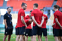Gareth Bale, left, of Wales national football team takes part in a training session before the semi-final match against China during the 2018 Gree China Cup International Football Championship in Nanning city, south China's Guangxi Zhuang Autonomous Region, 20 March 2018.