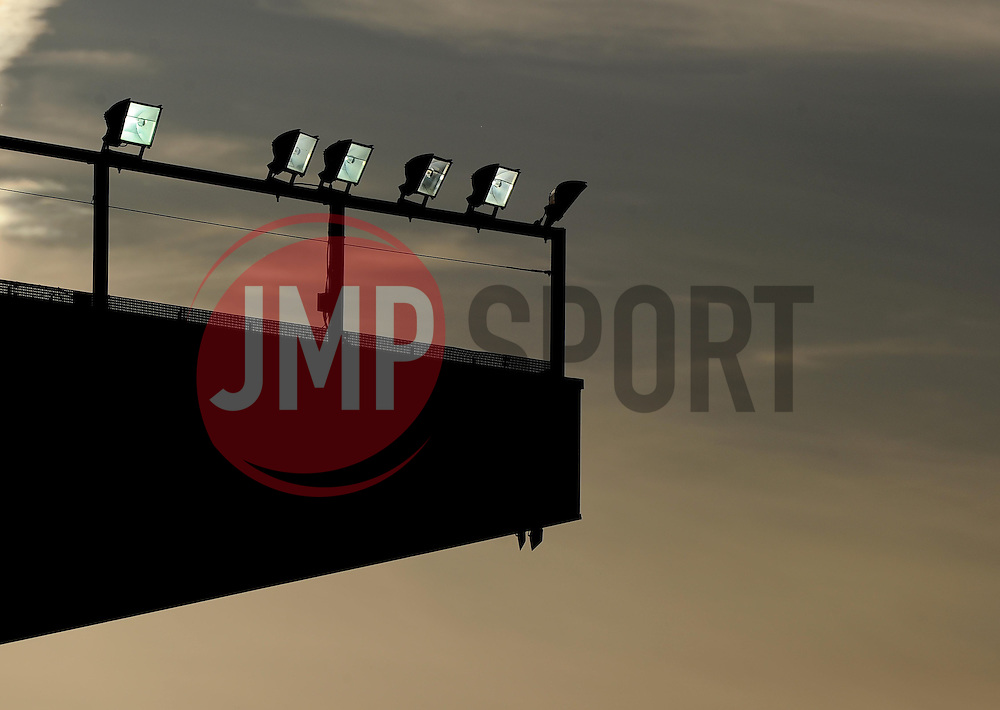 Silhouette of the Williams stand at Ashton Gate   - Photo mandatory by-line: Joe Meredith/JMP - Mobile: 07966 386802 - 20/05/2015 - SPORT - Rugby - Bristol - Ashton Gate - Bristol Rugby v Worcester Warriors - Greene King IPA Championship - Play-Off Final