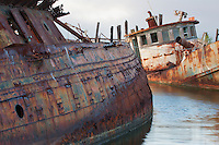 I am sorry to say that as the price of scrap metal has risen these  two ship wrecks have been cut up for scrap and hauled away.