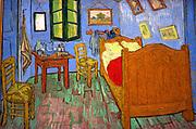 La chambre  à Arles' (Bedroom at Arles), 1888. Oil on canvas.  Vincent van Gogh (1853-1890) Dutch Post-Impressionist painter.
