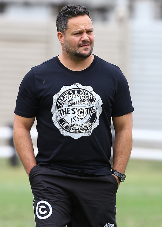 DURBAN, SOUTH AFRICA, 13 November 2015 -  Omar Mouneimne (Defence coach) of the Cell C Sharks during The Cell C Sharks Pre Season  training for the 2016 Super Rugby Season at Growthpoint Kings Park in Durban, South Africa. (Photo by Steve Haag)<br /> Images for social media must have consent from Steve Haag