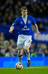 LIVERPOOL, ENGLAND - Thursday, December 17, 2009: Everton's Seamus Coleman in action against FC BATE Borisov during the UEFA Europa League Group I match at Goodison Park. (Pic by David Rawcliffe/Propaganda)