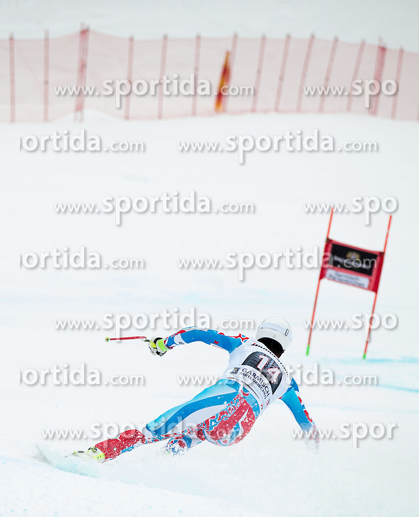 28.02.2015, Kandahar, Garmisch Partenkirchen, GER, FIS Weltcup Ski Alpin, Abfahrt, Herren, im Bild Johan Clarey (FRA) // Johan Clarey of France in action during the men's Downhill of the FIS Ski Alpine World Cup at the Kandahar course, Garmisch Partenkirchen, Germany on 2015/02/28. EXPA Pictures © 2015, PhotoCredit: EXPA/ Johann Groder