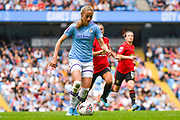 Manchester City Women forward Janine Beckie (11) during the FA Women's Super League match between Manchester City Women and Manchester United Women at the Sport City Academy Stadium, Manchester, United Kingdom on 7 September 2019.