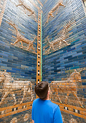 Ishtar Gate from Babylon at the Pergamon Museum on Museumsinsel in Berlin