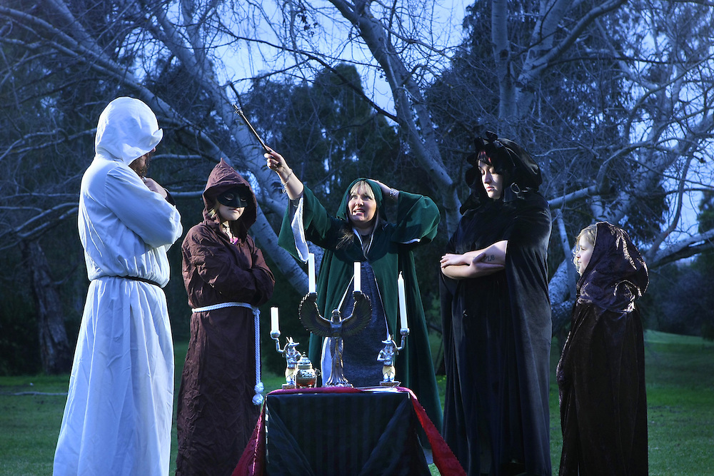 How is Julia Gillard seen by religions? Witches perform a pagan ritual at Spring Gully Reserve East Keilor. Left to right, Peter, Leanne, Lizzy Rose  celebrity psychic, Order of Wisdom, Learning &amp; Light OWLL , Purple  her real name , Alchemy  - Pic By Craig Sillitoe 17/07/2010 SPECIAL 000 melbourne photographers, commercial photographers, industrial photographers, corporate photographer, architectural photographers, This photograph can be used for non commercial uses with attribution. Credit: Craig Sillitoe Photography / http://www.csillitoe.com<br /> <br /> It is protected under the Creative Commons Attribution-NonCommercial-ShareAlike 4.0 International License. To view a copy of this license, visit http://creativecommons.org/licenses/by-nc-sa/4.0/.