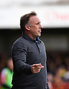 Crawley Town manager Mark Yates during the Sky Bet League 2 match between Crawley Town and Oxford United at the Checkatrade.com Stadium, Crawley, England on 9 April 2016. Photo by David Charbit.