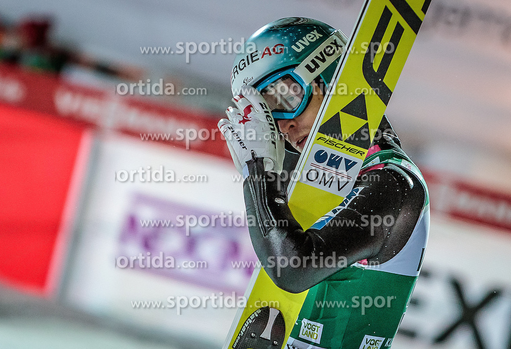 02.12.2016, Vogtland Arena, Klingenthal, GER, FIS Weltcup Ski Sprung, Klingenthal, im Bild Michael Hayboeck (AUT) // Michael  Hayboeck of Austria during the mens FIS Skijumping World Cup at the Vogtland Arena in Klingenthal, Germany on 2016/12/02. EXPA Pictures © 2016, PhotoCredit: EXPA/ JFK