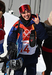 Great Britain's Aimee Fuller after the Ladies' Slopestyle Snowboard Final during day three of the PyeongChang 2018 Winter Olympic Games in South Korea.