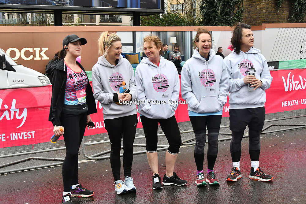 Dementia Revolution team at The Vitality Big Half 2019 on 10 March 2019, London, UK.