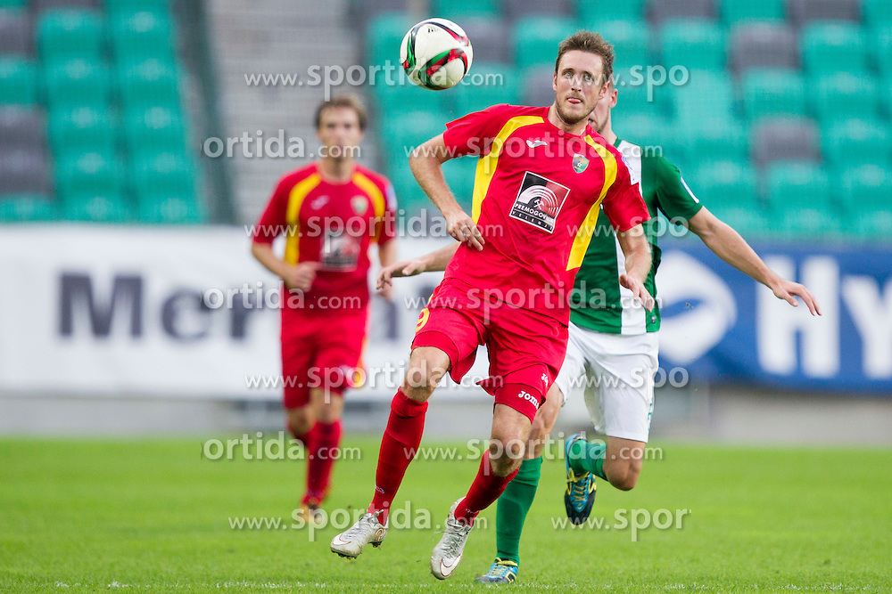 Luka Prasnikar #9 of NK Rudar Velenje during football match between NK Olimpija Ljubljana and NK Rudar Velenje in 8th Round of Prva liga Telekom Slovenije 2015/16, on August 30, 2015 in SRC Stozice, Ljubljana, Slovenia. Photo by Urban Urbanc / Sportida