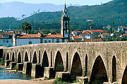 PORTUGAL, NORTH, BEIRA LITORAL AREA Ponte de Lima, attractive town of Roman origin with a Roman bridge of 31 arches crossing the Lima river