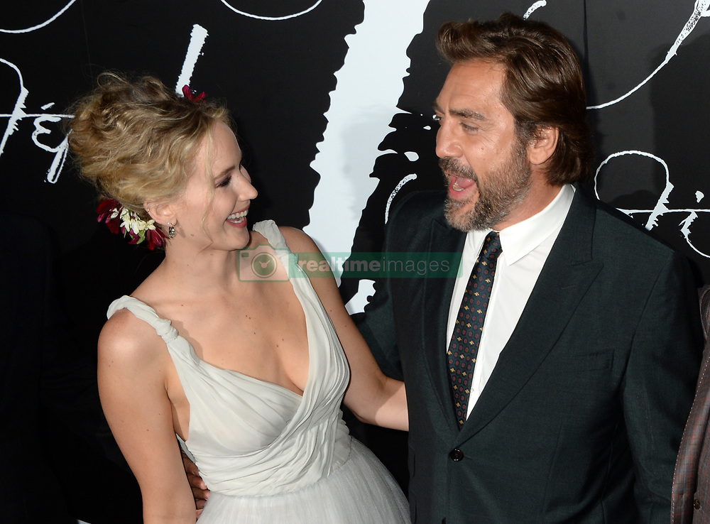 Jennifer Lawrence and Javier Bardem arriving for Mother! premiere held at Radio City Music Hall, New York City, NY, USA September 13, 2017. Photo by Dennis Van Tine/ABACAPRESS.COM