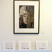 Exhibition of Garmsir Marines work in the Houston Center of Photography with personal diaries by Louie Palu. This was part of a group show named &quot;Soldier, at Ease&quot; with Erin Trieb and Tim Hetherington's work.<br /> (Credit Image: &copy; Louie Palu/ZUMA Press)