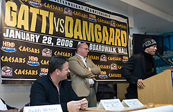 Welterweight contender Arturo Gatti at the final press conference for his upcoming fight against Thomas Damgaard of Denmark.  The two will meet for the vacant IBA Welterweight title Saturday night at Boardwalk Hall in Atlantic City, NJ.
