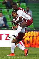 Joie Metz - Florent MALOUDA - 18.04.2015 - Metz / Lens - 33eme journee de Ligue 1<br />Photo : Fred Marvaux / Icon Sport