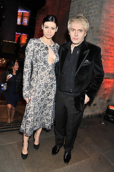 NICK RHODES and NEFER SUVIO at A Night of Funk & Soul in aid of Save The Children held at The Roundhouse, Camden, London on 20th March 2013.
