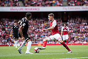 Arsenal midfielder Aaron Ramsey (8) during the Emirates Cup 2017 match between Arsenal and Sevilla at the Emirates Stadium, London, England on 30 July 2017. Photo by Sebastian Frej.