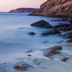 Dawn at Sand Beach in Maine's Acadia National Park.