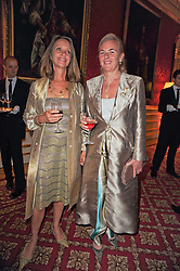 Left to right, SABRINA GUINNESS and COUNTESS DORA DELLA GHERARDESCA at a dinner hosted by HRH Prince Robert of Luxembourg in celebration of the 75th anniversary of the acquisition of Chateau Haut-Brion by his great-grandfather Clarence Dillon held at Lancaster House, London on 10th June 2010.
