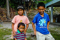 Indonesia, Sumatra. Samosir. Batak kids in Tuk Tuk. Tuk Tuk is today full of hotels and restaurants, and a good base to explore the rest of Samosir.