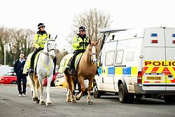 Police horses outside the Kassam prior to kick off - Mandatory by-line: Ryan Hiscott/JMP - 29/12/2018 - FOOTBALL - Kassam Stadium - Oxford, England - Oxford United v Bristol Rovers - Sky Bet League One