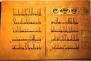 TURKEY, ISTANBUL Topkapi Palace; Library of  Ahmet III; Koran in Kufic script; Seljuk 11-12th C
