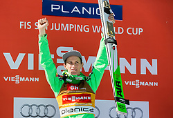 Winner Peter Prevc (SLO) celebrates at trophy ceremony after Ski Flying Hill Individual Competition at Day 4 of FIS Ski Jumping World Cup Final 2016, on March 20, 2016 in Planica, Slovenia. Photo by Vid Ponikvar / Sportida