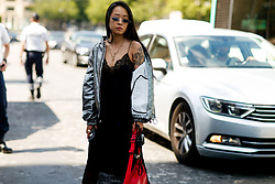 Street style, Christina Paik arriving at Off White Spring-Summer 2019 menswear show held at Palais de Chaillot, in Paris, France, on June 20th, 2018. Photo by Marie-Paola Bertrand-Hillion/ABACAPRESS.COM