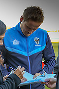 AFC Wimbledon manager Neal Ardley before the game  during the The FA Cup match between Curzon Ashton and AFC Wimbledon at Tameside Stadium, Ashton Under Lyne, United Kingdom on 4 December 2016. Photo by Simon Davies.