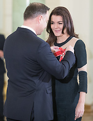 January 11, 2019 - Warsaw, Poland - Polish President Andrzej Duda (L) awarded tennis player Agnieszka Radwanska of the Order of Polonia Restituta in Warsaw, Poland, on 11 January 2019. (Credit Image: © Foto Olimpik/NurPhoto via ZUMA Press)
