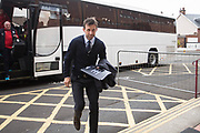 Dundee interim boss Neil McCann arrives at Fir Park for his first game in charge - Motherwell v Dundee, Fir Park, Motherwell, Photo: David Young<br /> <br />  - &copy; David Young - www.davidyoungphoto.co.uk - email: davidyoungphoto@gmail.com