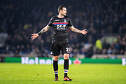 Crystal Palace #27 Damien Delaney during the The FA Cup 3rd round match between Brighton and Hove Albion and Crystal Palace at the American Express Community Stadium, Brighton and Hove, England on 8 January 2018. Photo by Sebastian Frej.