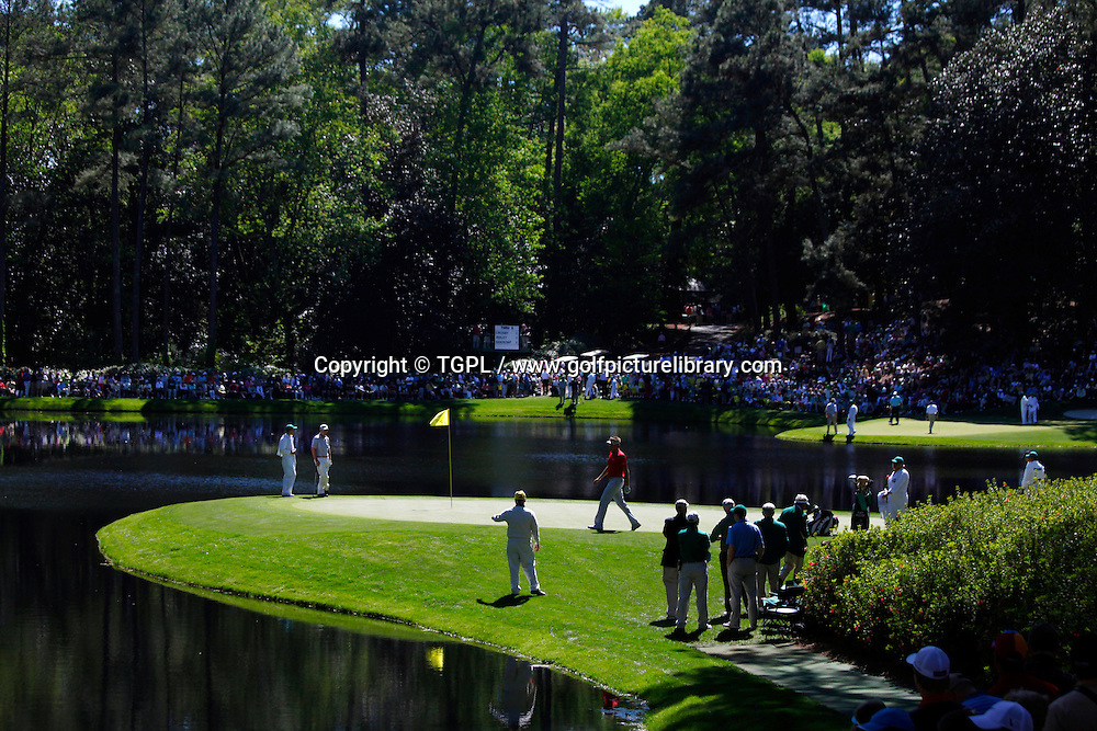 Tom WATSON (US) and Ian POULTER (ENG) during Wednesday's Par Three Contest US Masters 2011,Augusta National,Augusta,GA,USA.Tom WATSON (US)