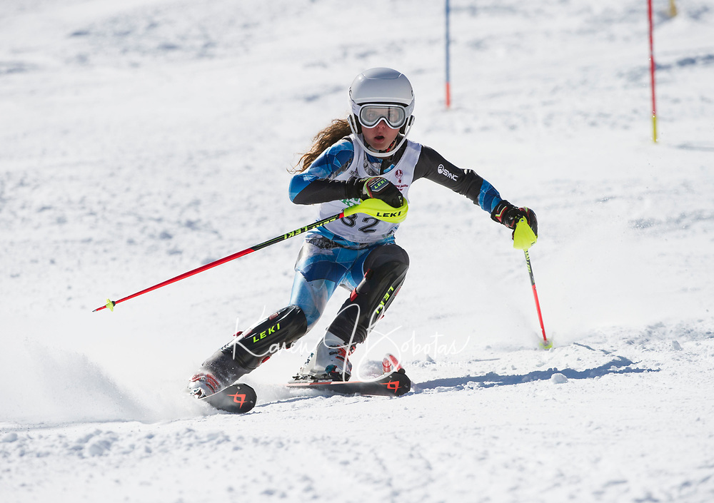Paul Ladouceur Slalom ladies U14 second run.  ©2018 Karen Bobotas Photographer