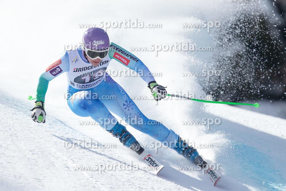 06.03.2015, Kandahar, Garmisch Partenkirchen, GER, FIS Weltcup Ski Alpin, Abfahrt, Damen, 1. Trainingslauf, im Bild Tina Maze (SLO) // Tina Maze of Slovenia during 1st training run for the ladie's Downhill of the FIS Ski Alpine World Cup at the Kandahar course, Garmisch Partenkirchen, Germany on 2015/03/06. EXPA Pictures © 2015, PhotoCredit: EXPA/ Johann Groder