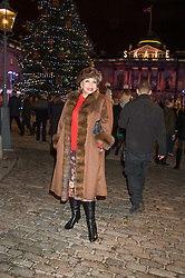 DAME SHIRLEY BASSEY at the launch of Skate at Somerset House in association with Fortnum & Mason held at Somerset House, The Strand, London on 17th November 2015.