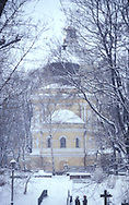 A snowy day at the Alexander Nevsky Monastery<br /> St. Petersburg, Russia