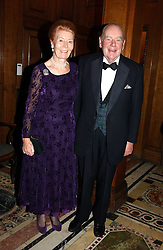 The HON.SIR CLIVE & LADY BARBARA BOSSOM  at a recital and dinner to celebrate the 10th anniversary of The Galitzine Library held at 2 Temple Place, London WC2 on 16th November 2004.<br />