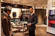 Men's clothes shop inside a department store in Marunouchi area of Tokyo.