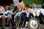 Jason Roberts of Great Britain in the quad rugby semi final against the USA in the USTB Gymnasium at the Paralympic games, Beijing, China.  15th  September 2008