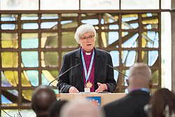 "29 June 2018, Geneva, Switzerland: Bible study, led by Church of Sweden Archbishop Antje Jackelén. The 2018 LWF Council meeting takes place in Geneva from 27 June - 2 July. The theme of the Council  is ""Freely you have received, freely give"" (Matthew 10:8, NIV). The LWF Council meets yearly and is the highest authority of the LWF between assemblies. It consists of the President, the Chairperson of the Finance Committee, and 48 members from LWF member churches in seven regions."
