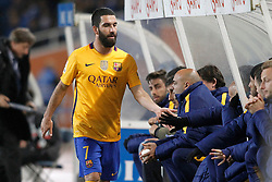 09.04.2016, Estadio de Anoeta, San Sebastian, ESP, Primera Division, Real Sociedad vs FC Barcelona, 32. Runde, im Bild FC Barcelona's Arda Turan // during the Spanish Primera Division 32th round match between Real Sociedad and FC Barcelona at the Estadio de Anoeta in San Sebastian, Spain on 2016/04/09. EXPA Pictures © 2016, PhotoCredit: EXPA/ Alterphotos/ Acero<br /> <br /> *****ATTENTION - OUT of ESP, SUI*****