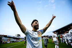 Josh Sheehan of Newport County celebrates after winning through to the Sky Bet League Two Playoff Final - Mandatory by-line: Robbie Stephenson/JMP - 12/05/2019 - FOOTBALL - One Call Stadium - Mansfield, England - Mansfield Town v Newport County - Sky Bet League Two Play-Off Semi-Final 2nd Leg